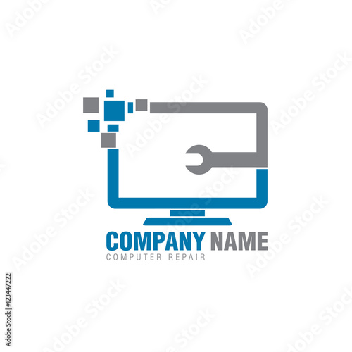 quotcomputer repair logo iconquot stock image and royaltyfree