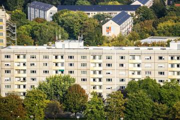 Plattenbauten in Dresden