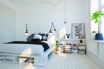 modernes, skandinavisches Schlafzimmer - modern swedish scandinavian style bedroom