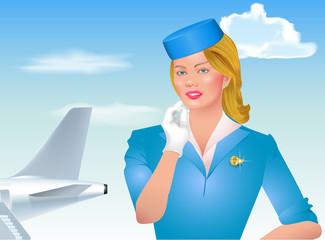poster illustration to the day of the flight attendant civil avi