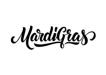 Mardi Gras Lettering Design Wall mural