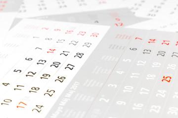 Kalender (seitliche Perspektive)