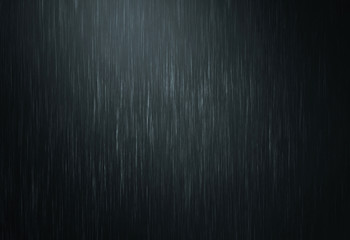 the rain water drop falling in rainy season with dark color as abstract background