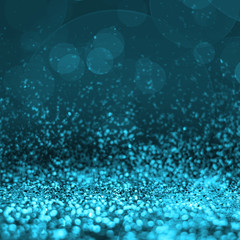 Abstract light blue glitter perspective to blank background,Stud