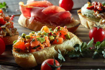 Delicious bruschetta set