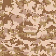 Seamless Digital Desert Camouflage pattern vector