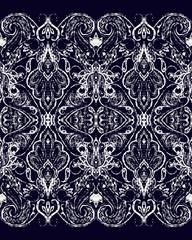Paisley seamless pattern, ornamental indian border, decorative motif