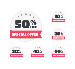 Special Offer % Off Labels