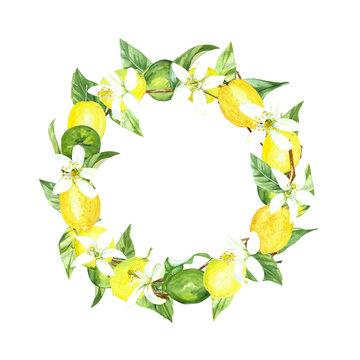 watercolor lemon wreath