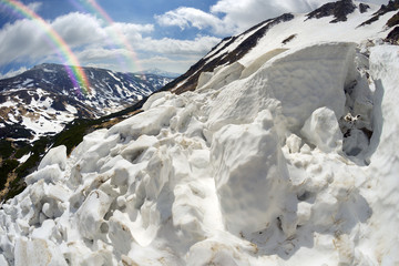 Avalanche in the Carpathians
