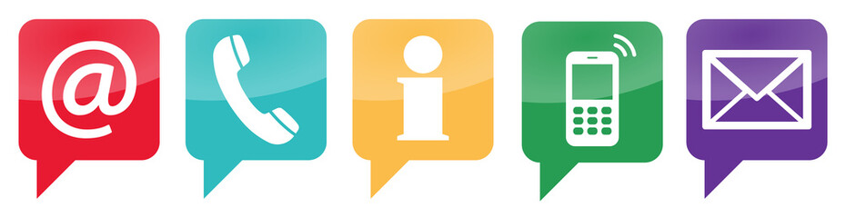 five contact us icons set