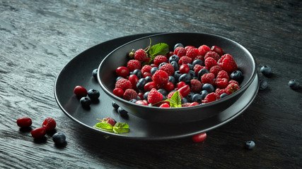 Mixed forest fruits
