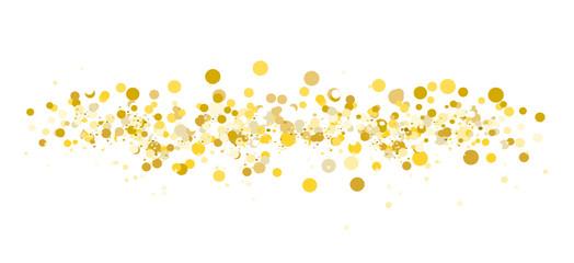 Konfetti Gold Braun Gelb Hintergrund