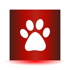 Vector icon footprint of an animal.
