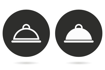Food cover - vector icon.