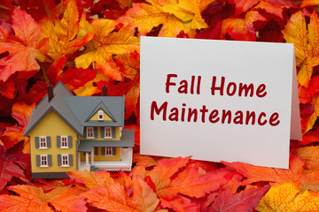 Home maintenance for the fall season