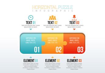 Horizontal Puzzle Piece Infographic