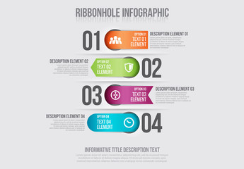 Ribbon Tab Element Infographic