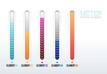 Meter Design Elements Infographic