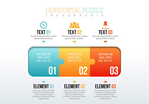 Horizontal Puzzle Piece Infographic
