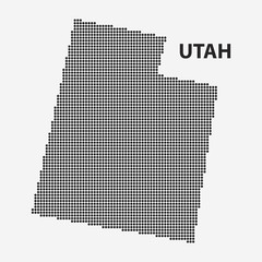 Dotted map of the State Utah. Vector illustration.