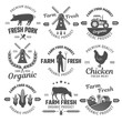 Farm Black White Emblems