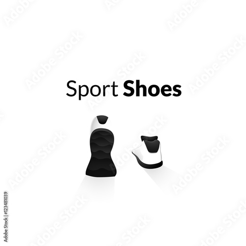 quot sport shoes wellness running concept logo quot stock image
