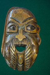 old wooden brown mask