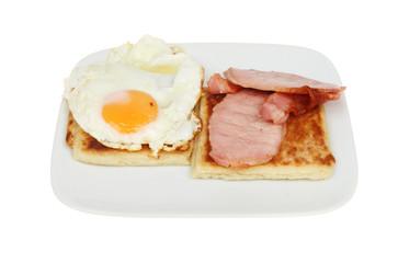 Egg bacon and potato bread