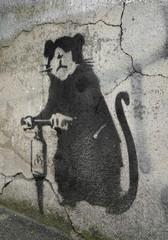 Street Art eines unbekannten Künstlers an einer Fassade in Berlin