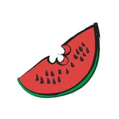 cartoon slice watermelon