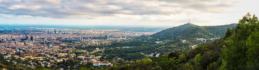 Foto op Canvas Panoramic view of Barcelona