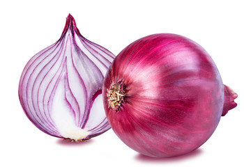 Red onion isolated on white Wall mural