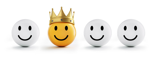Gelber Smiley mit Krone 4