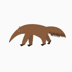 Cartoon Vector Illustration of Tamandua Anteater