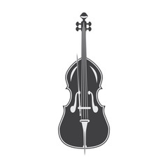 Black and white contrabass