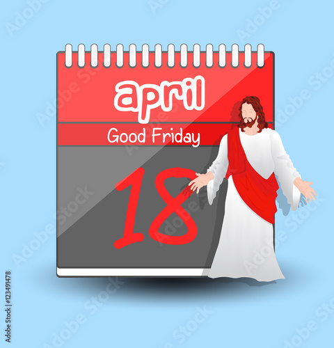Calendar Good Friday : Quot good friday calendar jesus character vector stockfotos