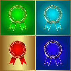 Ribbon Badges Icons