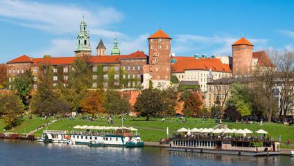 Autocollant pour porte Cracovie Wawel castle in Krakow