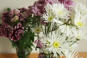 Autumn chrysanthemum bouquet