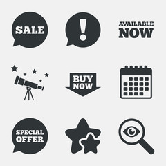 Sale icons. Special offer speech bubbles symbols.