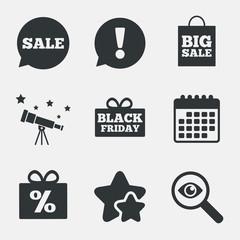 Sale speech bubble icon. Black friday symbol.
