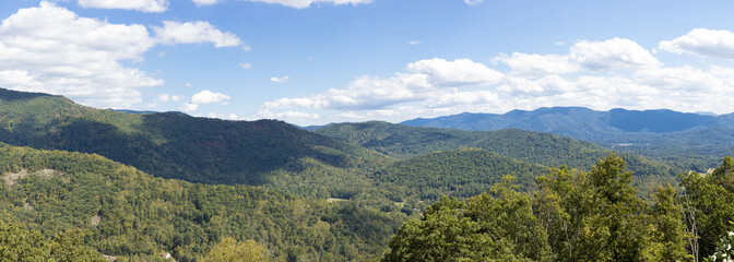 Panorama of the blue ridge mountains