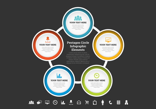 Linked Circle Cluster Infographic 1