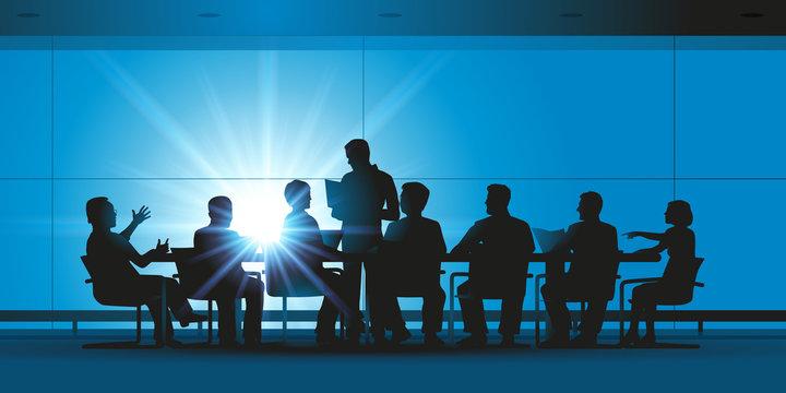 Réunion - entreprise - brainstorming