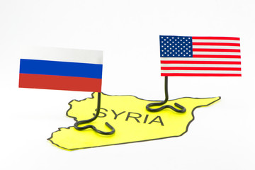 The military actions of the USA and Russia in Syria