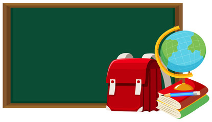 Blackboard and other school objects