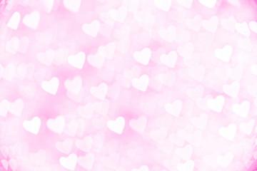 イルミネーション ハート形 ピンク