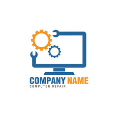 computer repair logo icon