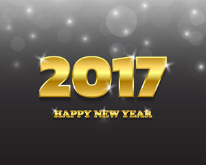 Happy new 2017 year. Greetings card. Colorful design. Vector ill